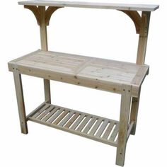 Wooden Potting Gardening Station Perfect For A Shed Or Yard Tractor Supplies