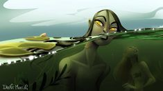 Search 'mermay' on DeviantArt - Discover The Largest Online Art Gallery and Community Siren Creature, Mermaid Artwork, Merfolk, Fantasy Illustration, Online Art Gallery, Cartoon Art, Creative Art, Pond, Around The Worlds