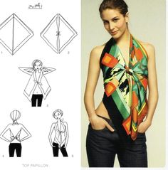 Foulard as summer top. Just my style