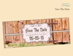 Country Wedding Save The Date. Barn Wedding Invitation by EmDesign #countrysavethedate #engaged
