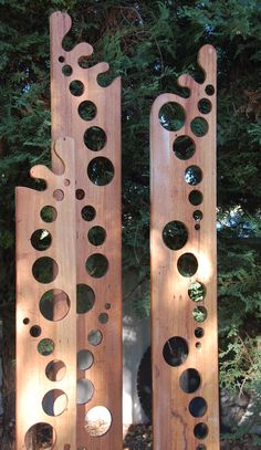 Harley makes these beautiful garden totems.