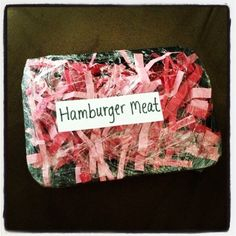Hamburger Meat...for pretend and learn center grocery store. All Faiths Day School. Texas School Ready!