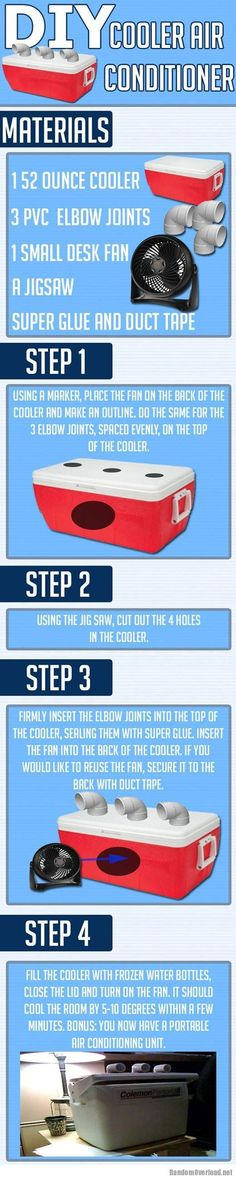 How to make your own cooler air conditioner