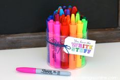 """Creative Party Ideas by Cheryl: """"You Have the Write Stuff"""" Back to School Idea Back To School Party, School Parties, Too Cool For School, School Gifts, Great Teacher Gifts, Student Gifts, Great Gifts, Meringue, Creative Party Ideas"""