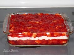 Today I have a recipe that is my Mom's Strawberry Sour Cream Jello that she used to make. Luckily many years ago, I made her write the recipe down! She got the recipe from a co-worker that brought it in. Jello Dessert Recipes, Fruit Salad Recipes, Köstliche Desserts, Delicious Desserts, Alcoholic Desserts, Fruit Salads, Health Desserts, Yummy Food, Jello With Sour Cream Recipe