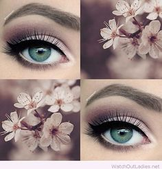 Amazing pale pink and plum smokey eye makeup for wedding PANDORA Jewelry More�