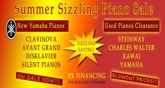 Considering purchasing a piano in NJ🎹🎼? Check out our summer sizzling piano sale! We have a wide variety of new and used pianos for sale with brands including Clavinova, Disklavier, Steinway and many more! Visit our website for more info!