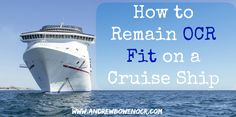 staying fit on a cruise vacation