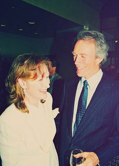 """With Clint Eastwood at """"The Bridges of Madison County"""" LA Premiere ~ 1995"""