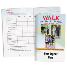Walk Your Way To Fitness Guide & Daily Log With Personalization  Item # ITP-86