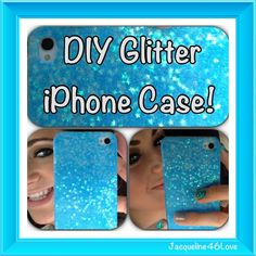 DIY Glitter Iphone Case!