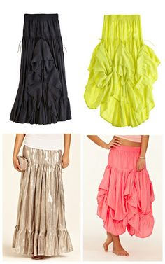 Calypso parachute skirt. Can be worn several different ways and even as a dress.