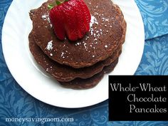 whole wheat chocolate coffee pancakes to make vegan: substitute Egg Replacer for egg and soy milk for buttermilk