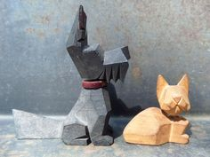 Collectible Dogs FigurineCollectible Cats by CodettiSupply on Etsy, $8.00