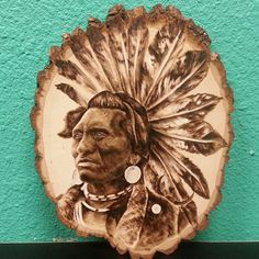 Native American Wood Burning by letitburnnn on Etsy