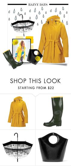 """rainy days"" by bonnie-wright-1 ❤ liked on Polyvore featuring Helly Hansen, Marc Jacobs, Elizabeth and James and rainydayoutfit"