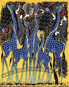 Painting by Maulana - co-designer of Tinga Tinga Tales monkey