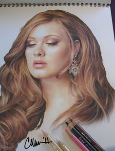 """Adele"" - photo of colored pencil drawing by ~Live4ArtInLA on DeviantArt"