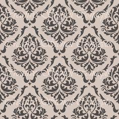 Nahtlose Floral Damaris Schablone mehrere Größen auf Industrie Standard 12 Mil Mylar-Design 105469619