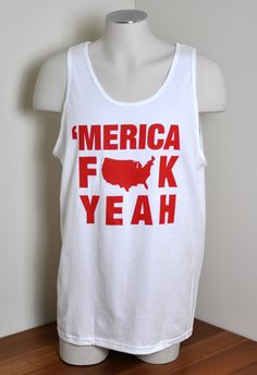 'MERICA FUCK YEAH Party Tank Top