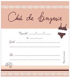 Chá de Lingerie // Convite