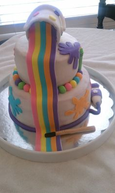 Cake Art Ga : Art Party Cakes on Pinterest Crayon Cake, Art Birthday ...