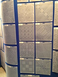 free motion quilting | Leah Day: lots of ideas for individual block quilting patterns.  See her book as well