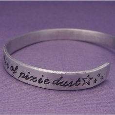Peter Pan Inspired - Faith, Trust and Pixie Dust - A Hand Stamped... ($14) ❤ liked on Polyvore