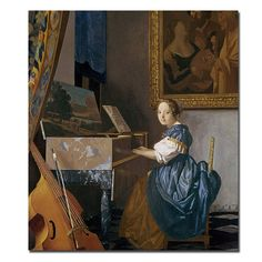 Jan Vermeer 'A Young Lady Seated at a Virginal' Canvas Art