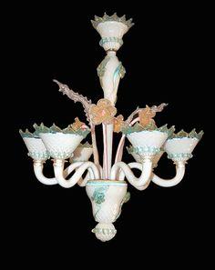 Fabulous Murano Glass Chandelier; circa 1920