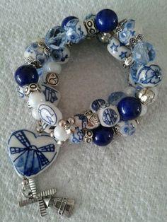Bracelet Delfts blue. Holland.