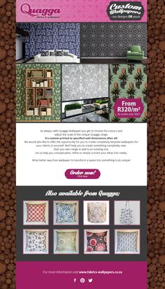 Various email design and responsive considerations - Design from Cape Town - banners, logos, landing pages Email Campaign, Email Design, Surface Pattern Design, Cape Town, Over The Years, Landing, Banners, Fabrics, Wallpapers