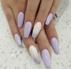 What Christmas manicure to choose for a festive mood - My Nails Purple Acrylic Nails, Acrylic Nails Coffin Short, Best Acrylic Nails, Summer Acrylic Nails, Pink Nails, Light Purple Nails, Cute Nails, Pretty Nails, Lavender Nails