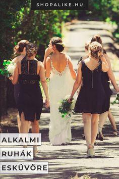 Meghívást kaptál egy esküvőre, de nem engedheted meg magadnak a drága alkalmi ruhákat? Semmi gond! A stílusos megjelenés nem pénzkérdés. Cikkünkben összegyűjtöttünk pár szuper koktélruha-fazont, amivel biztosra mehetsz, a klasszikus csipkeruháktól kezdve a lezser skater ruhákig. A legjobb, hogy egyik modell sem kerül 15.000 Ft-nál többe, így még a kiegészítőkre is marad pénzed! Inkább nadrágos típus vagy? Akkor bátran viselhetsz overált is a nagy napra! #esküvő #stílusvilág #alkalmiruha… Dresses, Fashion, Vestidos, Moda, Fashion Styles, Dress, Fashion Illustrations, Gown, Outfits