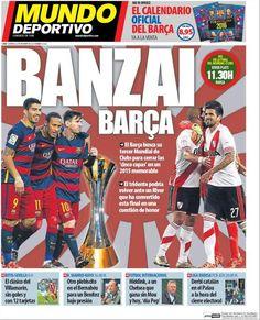 Rassegna stampa estero: BANZAI Barcellona! - http://www.maidirecalcio.com/2015/12/20/rassegna-stampa-estero-15.html