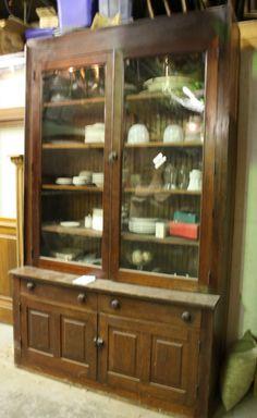 Antique Schoolhouse Oak Cabinet Built-In by LittleDocsSalvage ...