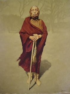 Dale Van Sickle : Red Dress Kiowa Woman.