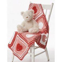 Heart Dishcloth Blanket Free Crochet Pattern