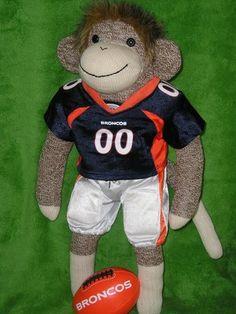 Denver Broncos Football Sock Monkey @Teresa Fraser