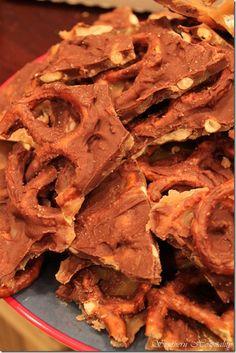 Chocolate Salted Caramel Pretzel Bark - Southern Hospitality