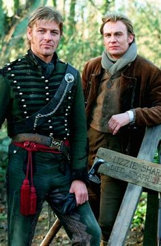San Bean as Richard Sharpe and Philip Glenister as Matt Truman (Sharpe's half-brother, unbeknowst to him) - Sharpe's Justice.