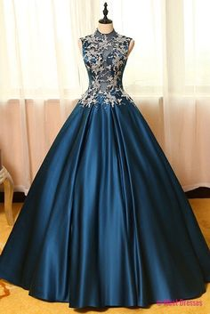 Ball Gown Prom Gowns,Lace Prom Dresses,Satin Prom Dresses,Satin Prom Gown,Prom Dress,Evening Gown For Teens PD20186119