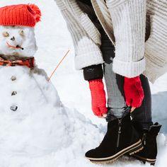 Wärmender Damen-Bootie in Schwarz - Paul Green Paul Green, Shoes, Black, Design, Fall, Fashion, Velvet, Leather, Autumn