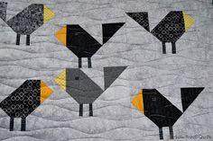 Sew Fresh Quilts: Black Birds baby quilt