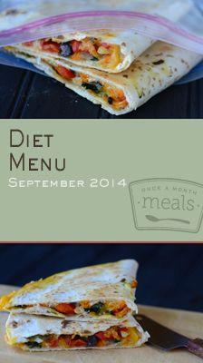 Diet September 2014 Menu | Once A Month Meals