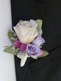 Victorian Lilac Collection  Boutonniere  Groom  by floralartstudio, $15.00