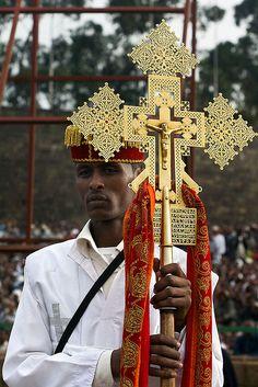 Ethiopia - Crossbearer- Meskel, Addis Ababa, Ethiopia, (Photographer larkvi)