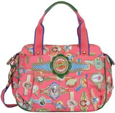 Oilily Fairy Tapes Baby Bag - Fluo Pink