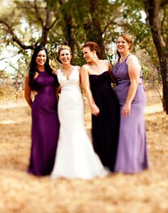 for every bridesmaid, a shade of purple