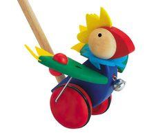 Selecta Papagallo Bird Push Toy - Honeybee Toys